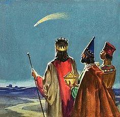 Nativity Art - Three Wise Men  by English School