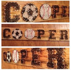 Custom made string art! Names, logos and symbols! on Etsy, $50.00
