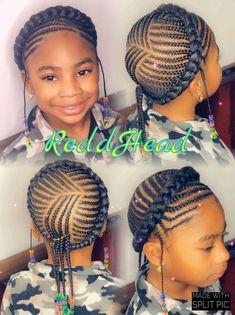 natural hairstyles for short hair Toddler Braided Hairstyles, Lil Girl Hairstyles, Natural Hairstyles For Kids, Braided Hairstyles For Black Women, African Braids Hairstyles, Braids For Black Hair, Natural Hair Styles, Little Girl Braids, Braids For Kids