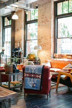Bohemic living.  #style, #interiors, #Home, #furniture, #living room