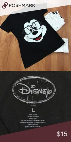NWOT Disney T Shirt Women's Black Disney T-shirt with Mickey Mouse face. New without tags. Disney Tops Tees - Short Sleeve