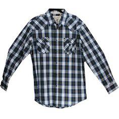 Austin Men's Long Sleeve Shirt - Blue   $43.00