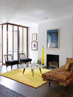 Collectors Townhouse - New York - Interior photo of living room - Selldorf Architects