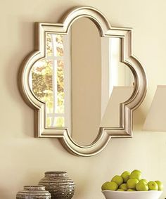 Signature Design by Ashley Furniture Champagne Desma Accent Mirror Pink Mirror, Mirror Mirror, Mirrors, Arc Lamp, Quatrefoil, Sophisticated Style, Elegant, Signature Design, White Decor