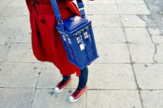 Tardis purse! I do not know what this would go with but you know I got Dibs