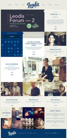 Flat Design Website. #webdesign #layout