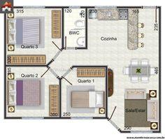 Casa 3 Quartos - 60.67m²