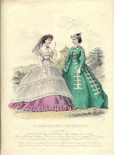 Le Journal des Dames et des Demoiselles - French fashion plate that tested positive for arsenical pigments (1860–65)
