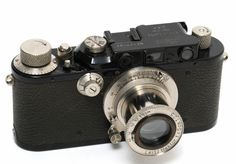 Vintage Leica III black w. Leica Camera, Vintage Cameras, 35mm Film, Binoculars, Cinema, Photo And Video, Glass, Ebay, Design