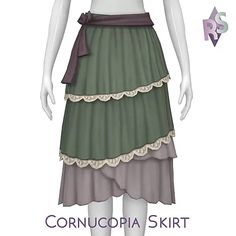 Cornucopia Skirt | renorasims Sims 4 Cc Packs, Hair Png, Sims 4 Cc Finds, Sims 4 Custom Content, Country Outfits, Sims Cc, New Outfits, Ballet Skirt, Female
