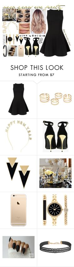 """""""day seventy nine, new years eve party"""" by roxouu ❤ liked on Polyvore featuring Cameo Rose, Charlotte Russe, Balmain, Yves Saint Laurent, Style & Co., Humble Chic, party, newyear and byroxouu"""