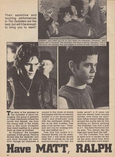 The Outsiders newspaper clipping