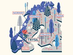 Trysil (Norway) Map