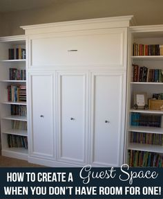 How to Create a Guest Space when you don't have room for one!    Over the Big Moon