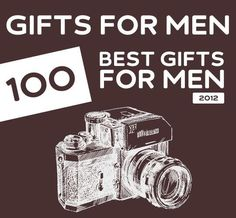100 Best Christmas Gifts for Men of 2012. Great list with unique gift ideas for men.