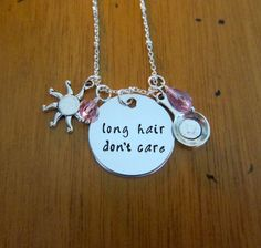 "Sassy Princess Necklace. Rapunzel necklace. ""Long hair don't care"" necklace. Punzie. Swarovski crystal elements. Perfect for Bounding. by WithLoveFromOC (item: 201598240)"