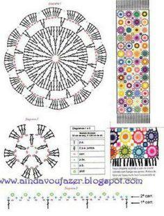 Crochet Scarf - Chart ❥ 4U // hf