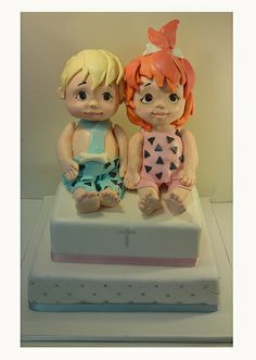 390405 bam bam and pebbles CREATIVE CAKE ART FIRST BIRTHDAY CHRISTENING AND BABYSHOWER CAKES