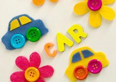 Felt flower refrigerator magnets Kids Activity Photos | BabyCenter    Looks like fun!