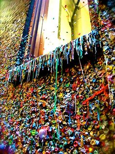 Gum Wall in Seattle. If you are a tourist, just make a quick stop by the Gum Wall for a photo op in front of one of the city's craziest tourist attractions, then leave right away.