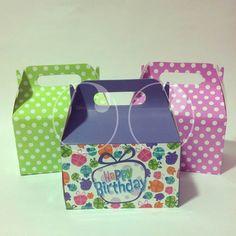 Cajas tipo lonchera para que puedas empacar tus regalos, alimentos y demás.!!