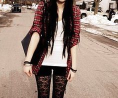 I think Jenna could do the layers as well as the color... Punk rock fashion