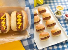 Mini Hot Dogs + DIY: Food Containers.