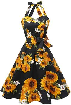 online shopping for Topdress Women'sVintage Polka Audrey Dress Halter Retro Cocktail Dress from top store. See new offer for Topdress Women'sVintage Polka Audrey Dress Halter Retro Cocktail Dress Women's Dresses, Pretty Dresses, Vintage Dresses, Beautiful Dresses, Fashion Dresses, Lila Outfits, Cute Casual Outfits, Cocktail Dresses Online, Black Cocktail Dress