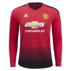 f47f5538b adidas Manchester United Long Sleeve Home Jersey 18 19 Jersey Shirt