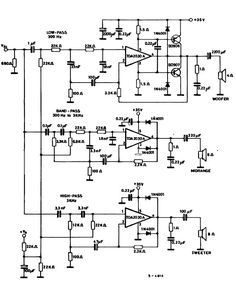 Circuit Power audio Amplifier with TDA2030 2.1