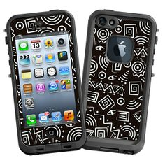 Black and White Tribal #Skin  for the #lifeproof #iphone5 and #iphone5s #Case by #Skinzy.com