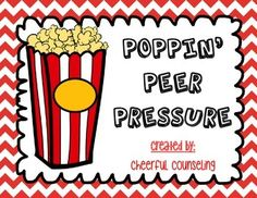This popcorn-themed product is designed to help children resist and respond to pressure from peers. This product comes with the following materials: 1. What are some good/poor peer influences?: On each worksheet, the students can write good peer influences and poor