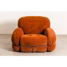 Italian sofa with chrome, Adriano Piazzesi