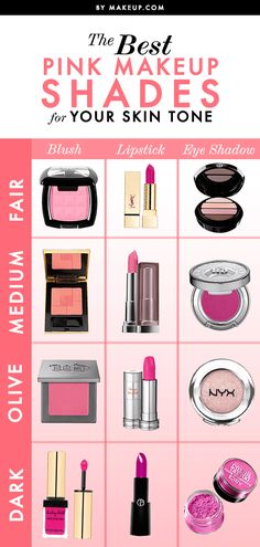 We're firm believers in rocking pink makeup — no matter your skin tone! Find the right shades of pink to complement your specific complexion.