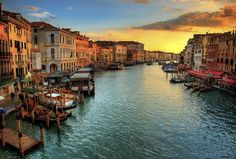 Italian Surname Meanings & Origins: Grand Canal in Venice, Italy