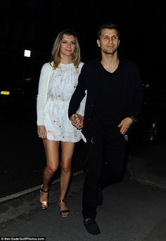 Strictly going strong: Countdown star Rachel Riley held hands with her professional dancer lover Pasha Kovalev