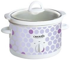 New CrockPot Manual Slow Cooker Polka Dot Pattern -- Details can be found by clicking on the image. Small Slow Cooker, Crock Pot Slow Cooker, Slow Cooker Recipes, Crockpot Recipes, Crock Pots, Vegan Recipes, Slow Cooking, Cooking Blogs, Cooking Kale