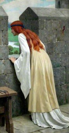 """""""The Arrival"""" by Edmund Blair Leighton, via The Kissed Mouth: Better Leighton Than Never Pre Raphaelite Paintings, Lady Godiva, Classical Art, Medieval Art, Samhain, Art Plastique, Beautiful Paintings, Oeuvre D'art, Art History"""