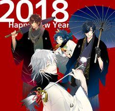 Date-gumi - Touken Ranbu Cute Anime Boy, Anime Guys, Character Group, Dance Images, Shall We Date, Bishounen, Manga, Touken Ranbu, Art Pictures