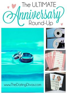 This is the Anniversary JACKPOT!  Gift ideas, date ideas, and even quick notes or cards for almost EVERY anniversary milestone! www.TheDatingDiva... #anniversary #giftideas #romanticgift