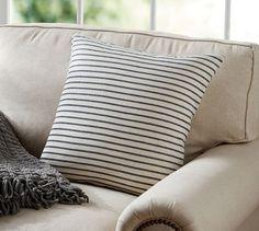 Sleep | Decor | Throw Pillow Option 2 - Pottery Barn - Porterdale Knit Stripe Pillow Cover