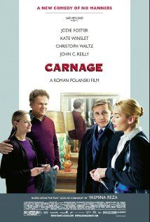 Carnage (2011). Better film than I thought it would be. But Jody Foster usually delivers an entertaining, and most of the time provocative, film. The dialogue is taut, witty, yet the film reaches a point where you feel the editor could've dieted the celluloid a wee bit! Still worthy a viewing for most.