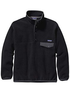 Patagonia Synchilla Snap-T Fleece Pullover - Men's Black/Forge Grey X-Large ** Visit the image link more details.