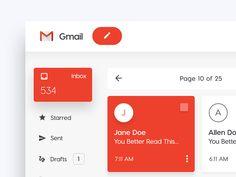 "2,731 Likes, 46 Comments - UI/ UX DESIGN INSPIRATION (@uidesignpatterns) on Instagram: ""Gmail - Web Concept by Malik Kimbrel . . Design shop @instadesket  Office setup inspiration:…"""