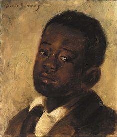 pintoras:  Alice Pike Barney (American, 1857 - 1931): Head of a Negro Boy