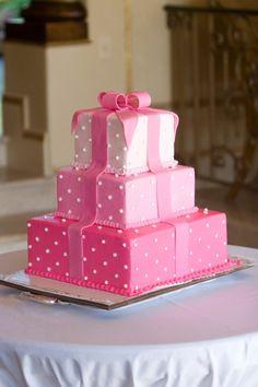 Pink Box Cake blue