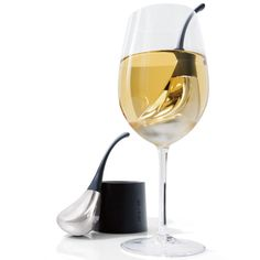 Genius!!  Fast-chills wine in minutes—one glass at a time.