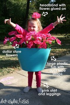 Halloween is one of my favorite holidays and I love reliving the magic again as a parent. There is nothing more fun than DIY Halloween costumes for kids Diy Halloween Costumes For Kids, Halloween Crafts, Baby Halloween, Homemade Costumes Girls, Last Minute Diy Costumes, Halloween Clothes, Costumes Kids, Flower Pot Costume, Costumes Faciles