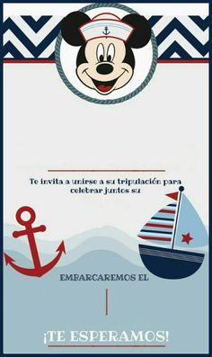 Nautical Mickey, Nautical Party, Anchor Birthday, Boy Birthday, Mickey Mouse Marinero, Juegos Baby Shower Niño, Mickey Mouse Bday, Boy Baptism, Ideas Para Fiestas
