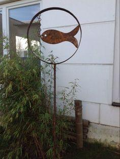 Details Zu Edelrost Schaufel Schmetterling Blumen Gartendeko Beetstecker  Metall Landaus